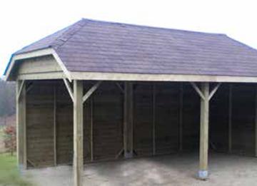 verschillende soorten dakbedekking zijn mogelijk op deze pagina vindt u enkele voorbeelden van carports met een zadeldak die we reeds realiseerden